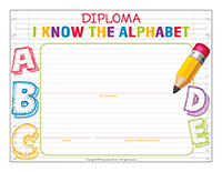 Diploma-I now the alphabet