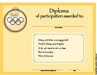 Diploma-Winter Olympic