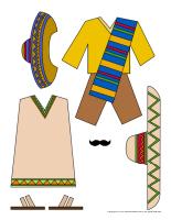 Dress up dolls-Mexico