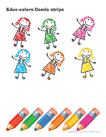 Educ-colors-Comic strips
