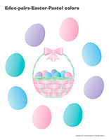 Educ-pairs-Easter Pastel colors