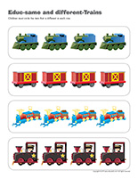 Educ-same and different-Trains