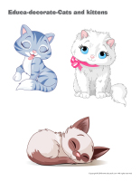 Educa-decorate-Cats and kittens-1