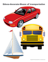 Educa-decorate-Means of transportation