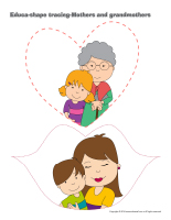 Educa-shape-tracing-Mothers and grandmothers