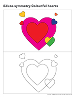 Educa-symmetry-Colourful hearts
