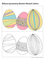 Educa-symmetry-Easter Pastel colors