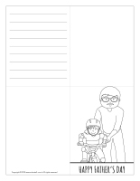 Father's Day cards-Black and white