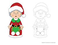 Finger-puppets-Mrs. Claus