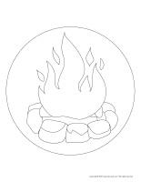 Floor illustrations-Fire
