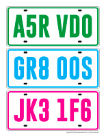Game License plates
