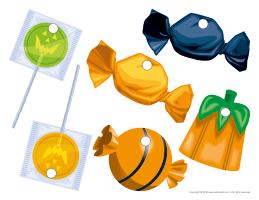Garland candy pieces