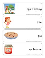 Giant word flashcards-Apples-3