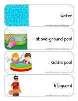 Giant word flashcards-At the pool-1