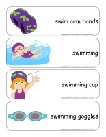 Giant word flashcards-At the pool-2