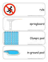 Giant word flashcards-At the pool-3