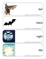 Giant word flashcards-Bats-1