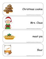 Giant word flashcards-Christmas-Baking-2