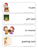 Giant word flashcards-Christmas-Gift exchange-2