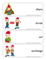 Giant word flashcards-Christmas-Sharing-1