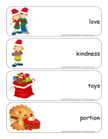 Giant word flashcards-Christmas-Sharing-2