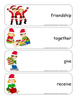 Giant word flashcards-Christmas-Sharing-3