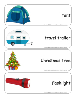 Giant word flashcards-Christmas in July-1