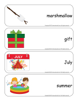 Giant word flashcards-Christmas in July-3