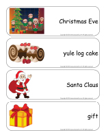 Giant word flashcards-Christmas traditions-1