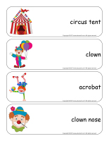 Giant word flashcards-Clowns-1
