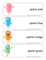 Giant word flashcards-Easter Pastel colors-1