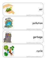 Giant word flashcards-Environment-1