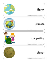 Giant word flashcards-Environment-3