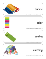Giant word flashcards-Fabric-1