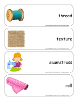 Giant word flashcards-Fabric-2
