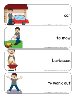 Giant word flashcards-Father's Day-1