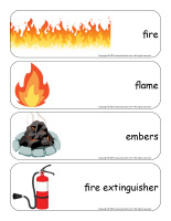 Giant word flashcards-Fire-1