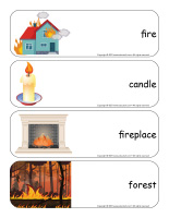 Giant word flashcards-Fire-3