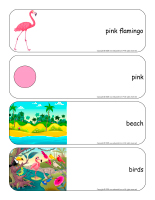 Giant word flashcards-Flamingoes-1