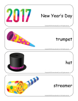 Giant word flashcards-Happy New Year-1