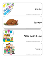Giant word flashcards-Happy New Year-2