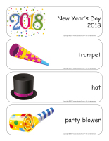 Giant word flashcards-Happy New Year 2018-1
