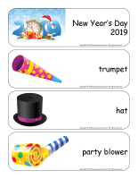 Giant word flashcards-Happy New Year 2019-1