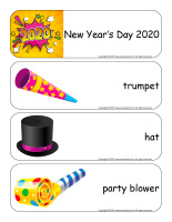 Giant-word flashcards-Happy New Year 2020-1