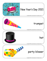 Giant word flashcards-Happy New Year 2021-1