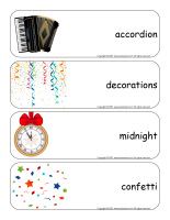 Giant word flashcards-Happy New Year 2021-3