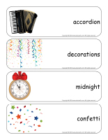 Giant word flashcards-Happy New Year-3
