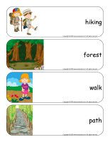 Giant word flashcards-Hiking-1