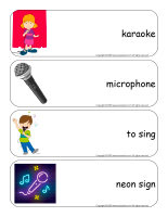 Giant word flashcards-Karaoke-1