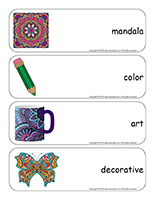 Giant word flashcards-Mandalas-1